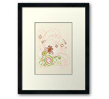 Sweet Groovy Pink Wild Blooms Framed Print
