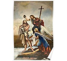 Jesus and John the Baptist Poster