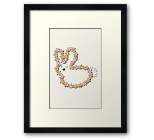 Jigsaw Blue Bunny (brown nose) Framed Print