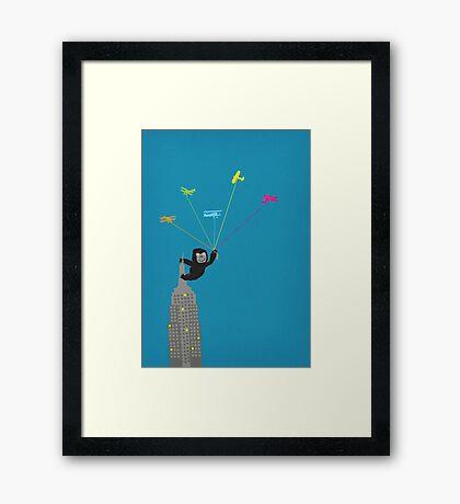 Baby Kong playtime Framed Print