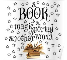 Book is a magic portal (with stars) Poster