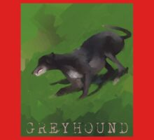 Digital Painting of a Greyhound One Piece - Long Sleeve