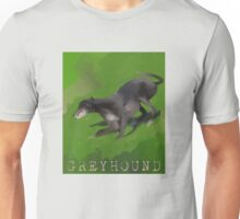 Digital Painting of a Greyhound Unisex T-Shirt