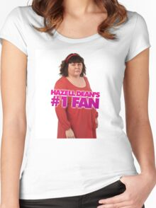 Hazell Dean's #1 Fan Women's Fitted Scoop T-Shirt