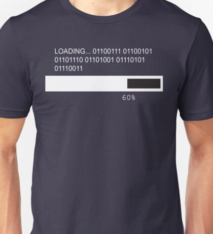 RAM Design Binary for Genius Plate #47 Unisex T-Shirt