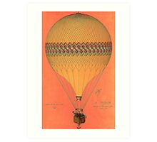French Hot Air Balloon Art Print