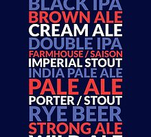 American Crafted Ales (CRAFT BEER USA) by baridesign