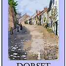 Gold Hill, Shaftesbury in Dorset by Moira Ladd