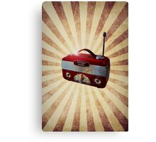 Turn Up Your Radio Canvas Print