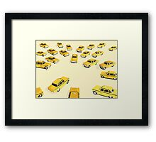 22 Yellow Taxis Framed Print