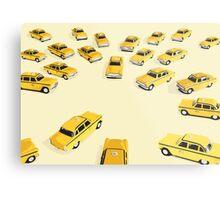 22 Yellow Taxis Metal Print