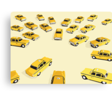 22 Yellow Taxis Canvas Print