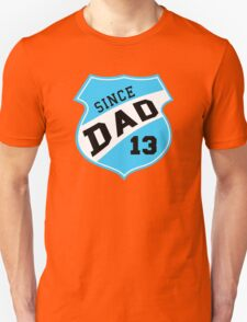 DAD SINCE 2013 Sports Design Sky T-Shirt