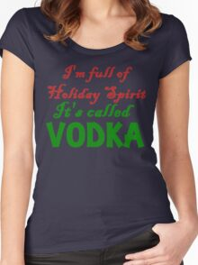 full of holiday spirit Women's Fitted Scoop T-Shirt