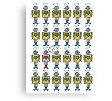 Robo Talks Again T-shirt Canvas Print