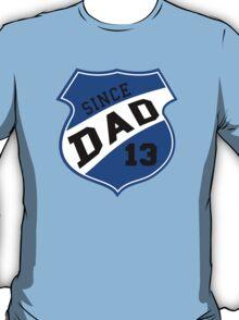 DAD SINCE 2013 Sports Design Blue T-Shirt