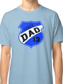 DAD SINCE 2013 Sports Design Blue Classic T-Shirt
