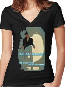 Val Bar (Narnia) flyer Women's Fitted V-Neck T-Shirt