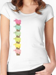 Sweet Pastel Cupcakes Women's Fitted Scoop T-Shirt