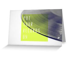 Records [Lime] Greeting Card