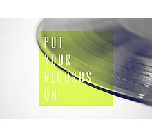 Records [Lime] Photographic Print