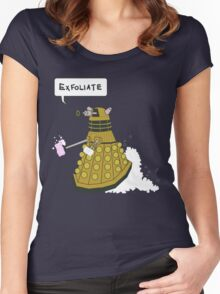 EXFOLIATE Dalek Women's Fitted Scoop T-Shirt