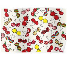 Cheeky Cherries Pattern Poster