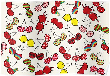 Cheeky Cherries Pattern by fatfatin