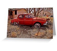 Renault Dauphine - House NM Greeting Card