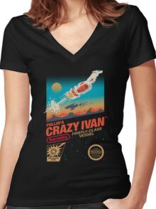 Crazy Ivan Women's Fitted V-Neck T-Shirt