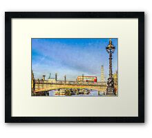 London Bus and London Eye Watercolour Framed Print