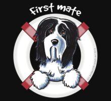 Bearded Collie :: First Mate Kids Tee