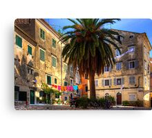 Washing Lines in Corfu Town Canvas Print