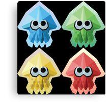 Splatoon Low-Poly Squids Canvas Print
