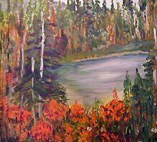 Mountain Lake Near Revelstoke by Lynda Earley