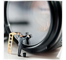 Cleaning a Lens (Micro world no 1) Poster