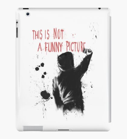 Not funny iPad Case/Skin