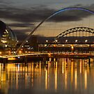 Dusk over the Tyne 2 by MartinWilliams
