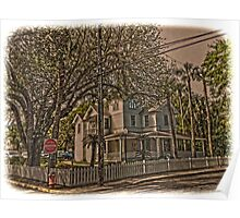 Old House and Tree Poster