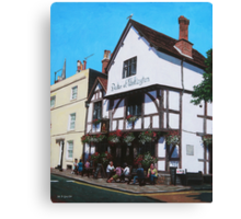 Duke of Wellington Tudor pub Southampton Canvas Print