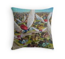 Guardian Angels Throw Pillow