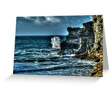 A Cornish Sea HDR Greeting Card