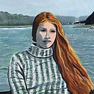 Linda on Versailles Lake by Barbara  Strand