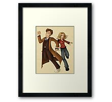 Run With Me (Doctor Who) Framed Print