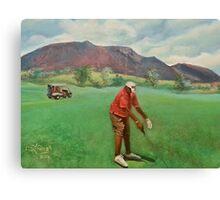 Lone golfer at Chyenne Golf Glub, Colorado Springs, Colo. Canvas Print