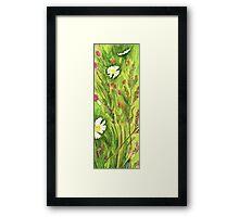 Prairie Daisies in Clover Framed Print