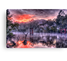 Mist & Light - Jingelic NSW/Walwa Victoria - The HDR Experience Canvas Print