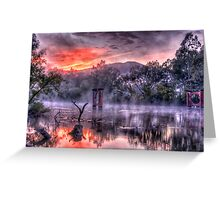 Mist & Light - Jingelic NSW/Walwa Victoria - The HDR Experience Greeting Card