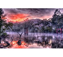 Mist & Light - Jingelic NSW/Walwa Victoria - The HDR Experience Photographic Print