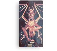 Luminescent Dragon Metal Print